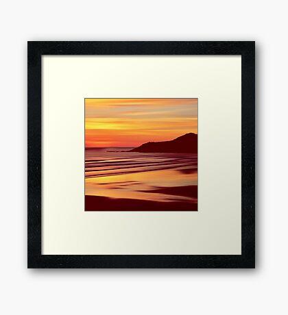 Sleep Tight Sunset Framed Print
