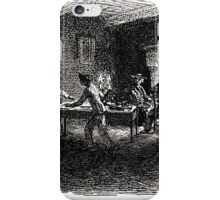 Achille Sirouy Mark Twain Les Aventures de Huck Huckleberry Finn illustration p118 iPhone Case/Skin