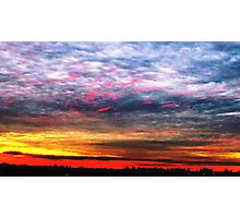 Colourful skies over NYC  Photographic Print