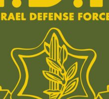 IDF Israel Defense Forces - with Symbol - ENG Sticker