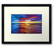 Spectrum Beach Framed Print