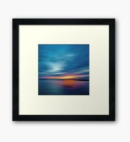 Sunburst Sunset Framed Print