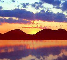 The Paps of Jura Sunset by David Alexander Elder