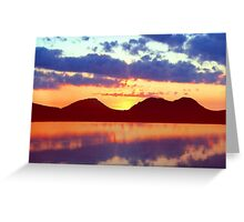 The Paps of Jura Sunset Greeting Card