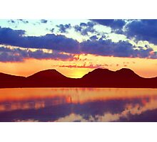 The Paps of Jura Sunset Photographic Print