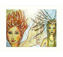 Sunday afternoon pastime fairies Art Print
