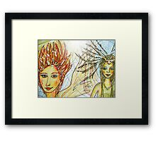 Sunday afternoon pastime fairies Framed Print