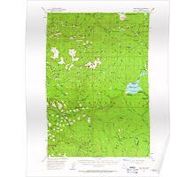 USGS Topo Map Oregon High Rock 282577 1956 62500 Poster