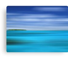 Tropical Desert Island Canvas Print