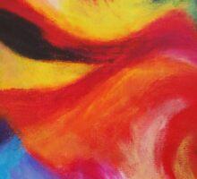 """Fiesta Nocturna"" original abstract landscape by Laura Tozer Sticker"