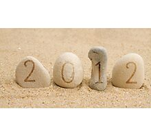 2012 stones and sand Photographic Print