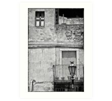 Old house in Taormina, Sicily Art Print