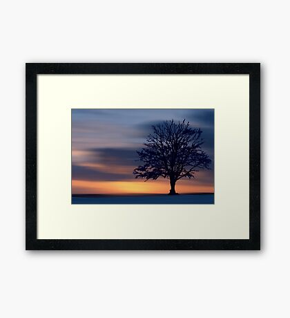 Winter's Night Framed Print