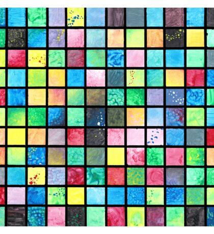 Black Grid Canvas Sticker