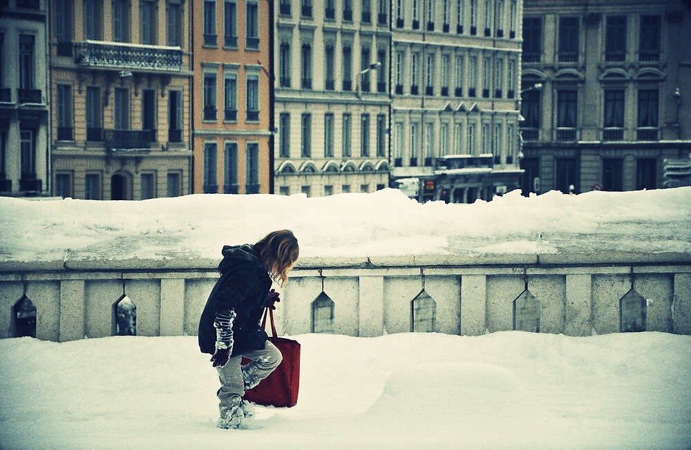 Little Poucet walking in the snow. by Rima Dadenji