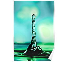 Green Water Tower Poster