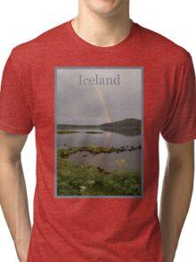 Nature Series/Rainbow Lake/Iceland Tri-blend T-Shirt