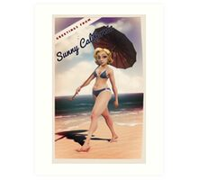 Greetings From Sunny California Art Print