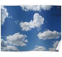 Clouds in a Blue Sky - Serene Poster