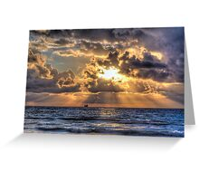 Morning Mooring -- Miami Beach, Florida Greeting Card