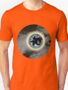 Witch On Broom Blue Moon Halloween Shirt T-Shirt