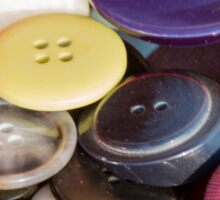 old buttons collection Sticker