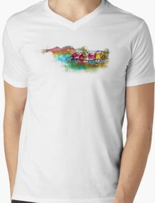 It's a Real Small Town Mens V-Neck T-Shirt