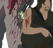 Carol Peletier and Daryl Dixon (Version 1) - The Walking Dead  Sticker