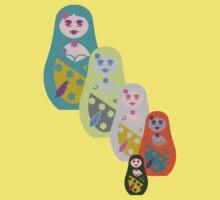 ★ Matriochkas - Cute Russian Dolls ★ Kids Tee