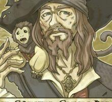 WANTED - Hector Barbossa Sticker