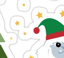 Merry Christmas Yeti Sticker