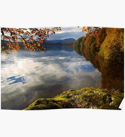 Autumn on Loch Achray, Scotland Poster