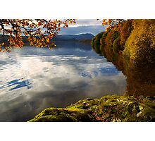 Autumn on Loch Achray, Scotland Photographic Print