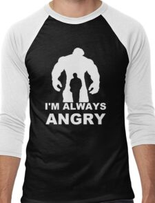 I'm Always Angry - Funny T-Shirt Short Sleeve 100% Cotton   Men's Baseball ¾ T-Shirt
