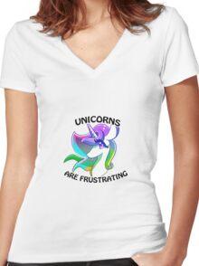 Gravity Falls Unicorn Women's Fitted V-Neck T-Shirt
