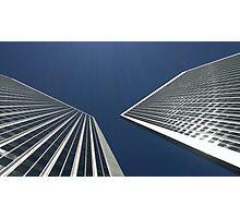 Twinned Towers Photographic Print