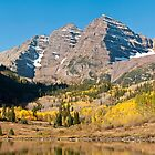 The Maroon Bells by Gregory J Summers