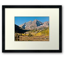 The Maroon Bells Framed Print