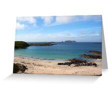 Bosta Beach, Great Berneray Isle, Lewis, scotland Greeting Card