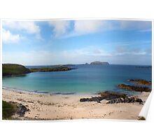 Bosta Beach, Great Berneray Isle, Lewis, scotland Poster