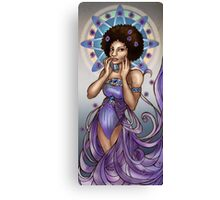 Astrid in Asters Art Nouveau Canvas Print