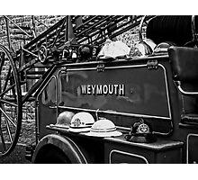 Vintage Fire Truck Photographic Print
