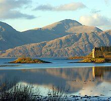 Castle Stalker, Highlands, Scotland by David Alexander Elder