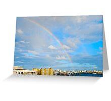 rainbow over San Juan Greeting Card