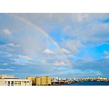 rainbow over San Juan Photographic Print