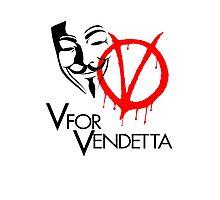 V For Vendetta  Photographic Print