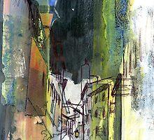 Italy-Memory Drawing 4 by Richard Sunderland