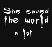 She saved the world 2 One Piece - Short Sleeve