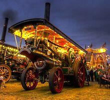 Showmans engine by night by Rob Hawkins