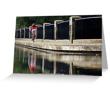 Bicycling Greeting Card